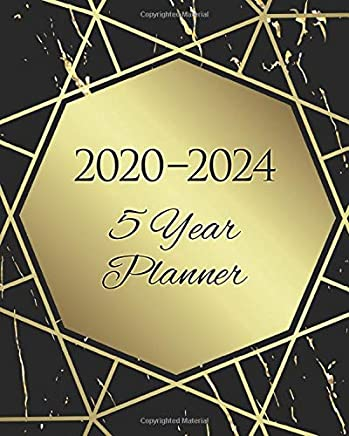 2020-2024 Five Year Planner: 60 Months Calendar,5 Year Monthly Appointment Notebook Agenda Schedule Organizer Logbook and Business Planners with Federal Holidays and Black and Gold Cover