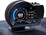 YUGUANG 4' HUD OBD2 GPS 2 Sistema Velocímetro Kilometraje Diagnóstico Auto Obd2 Pantalla HUD Altitud Flux Datos Brújula Reloj Alarma Velocidad Excesiva Temperatura Presión Turbina Cantidad Satélite