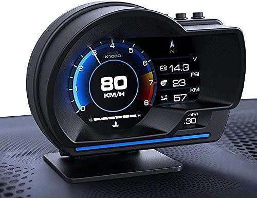 """YUGUANG 4"""" HUD OBD2 GPS Auto Doppio Tachimetro Chilometraggio Diagnostica Auto Obd2 Testata Display Ad Alto Flusso Dati Allarme Velocità Eccessiva Turbina Pressione Compatibile per Tutti Veicoli"""