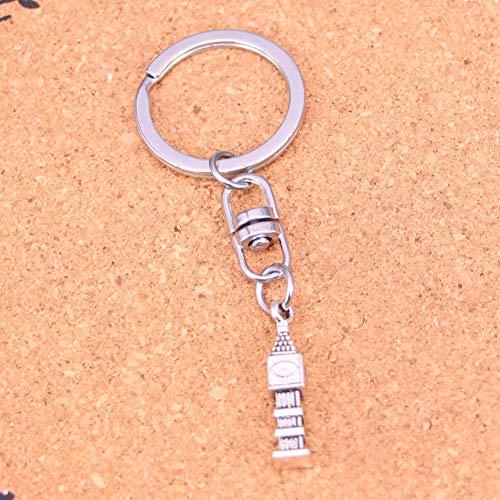 TAOZIAA Metalen Vintage grote ben 3D klok Sleutelhangers Accessoire & Verchroomde Sleutelhangers