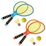A0127 Racket Children Fitness Badminton Tennis Racquet Plastique Mis Raquettes Outdoor Leisure Enfants Jouet Couleur Aléatoire Cadeaux De Noël, New Two-in-One