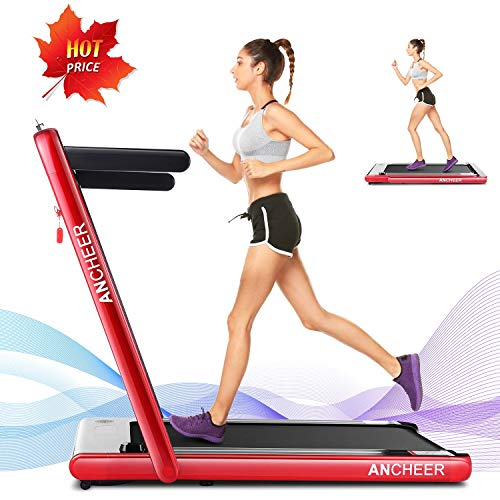 ANCHEER Treadmill, 2 in 1 Folding Treadmill with Remote...
