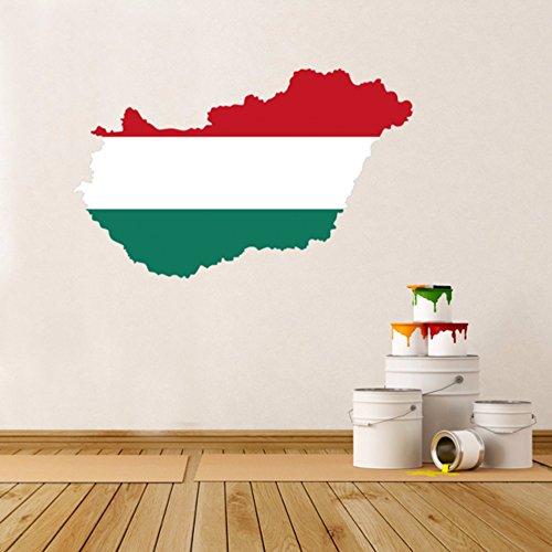 Hongaarse vlag kaart van Hongarije muur Vinyl Sticker Aangepaste Home Decoratie Muursticker Bruiloft Decoratie PVC Wallpaper Mode Ontwerp