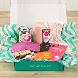 Women's Gift Set for Mom (Luxury Home Spa and Snack Kit for Mothers) Variety Assortment of 12 Items: Wine Glass, Chocolates, Self Care for Wife Fiancé Girlfriend Ladies Females