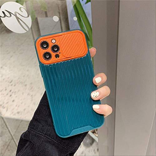 Estuche para teléfono con protección para Lentes cámara para iPhone 12 Mini 7 8 Plus 11 Pro MAX XS MAX X XR SE 2020 Carcasa Trasera TPU Suave Color Caramelo para iPhone 7 Plus Verde