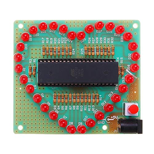 Learn More About Module Assembled 51 MCU Heart-Shaped Light Water LED Flashing Light Electronic Boar...
