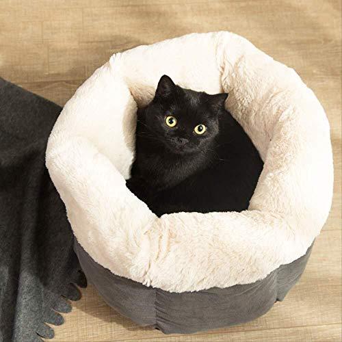 Warm Thuis Kattennest Winter Warm Teddy Kennel Kat Slaapzak Chihuahua Huis Puppy Mat Diepe Slaap Huisdier Nest 40 * 40 * 30cm (Apricot) Leuk