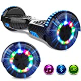 GeekMe Gyropod 6.5 Pulgadas Scooter Eléctrico Board Hover Certificado UL2272 Certificado Bluetooth Incorporado Lámparas LED Colorido Intermitentes Wheels