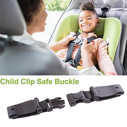 1PCS Cinturón de correa de asiento de automóvil, Cinturón general de asiento de automóvil para niños con hebilla, Arnés de seguridad duradero para automóvil, Hebilla segura con clip para el pecho
