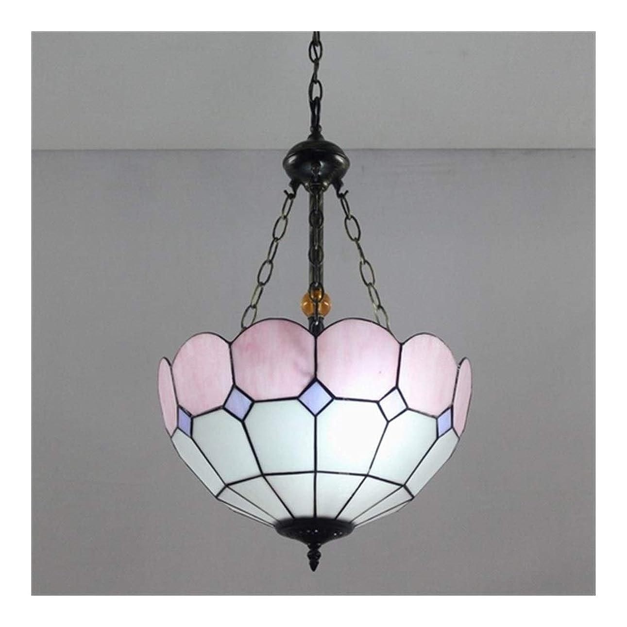熟達シーフード晩餐家の装飾のための色付きのガラスデザインの16インチ手作りティファニーシャンデリアランプ