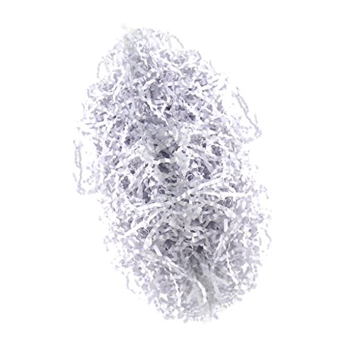 freneci Geschredderter Crinkle Papier Geschenkkorb, Der Papier Zerfetztes Geschenk Wrapper Bunt Füllt - Weiß