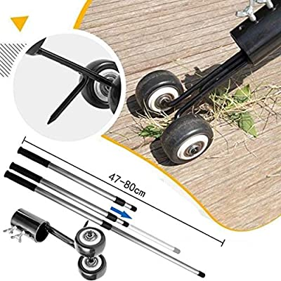 Livel Portable Weeds Snatcher Crack and Crevice Weeding Tool Weed Puller Lawn Garden Tools Stand up Manual Weeder with Retractable Handle (with Handle)