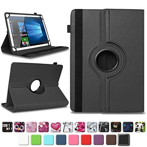 NAmobile Tablet Tasche kompatibel für Wortmann Terra Pad 1006 Hülle Schutzhülle Tablettasche mit Standfunktion 360 Crad drehbar Universal Tablethülle, Farben:Schwarz