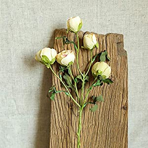 Artificial Flower Ranunculus Long Stem Fake Bouquet Home Room Decoration Wedding Props,3 Branches(no vase/Yellow)