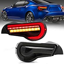 VLAND Tail lights Assembly Fit for Toyota GT 86 2012-2020/ Subuaru Brz 2013-2020,smoked,Plug-and-play