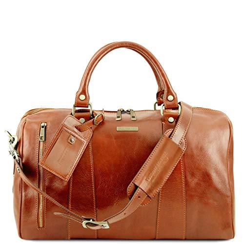 Tuscany Leather - TL Voyager - Maleta de Viaje en Piel - Modelo Pequeño Miel -...
