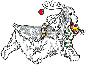 (10 Pack) Cocker Spaniel Christmas Card (Inside Reads: Merry Christmas!)