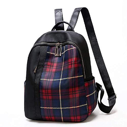 Dwxx Backpack Oxford Buggy Shoulder Bag Female British University Student Bag Travel Backpack Fashion Trend