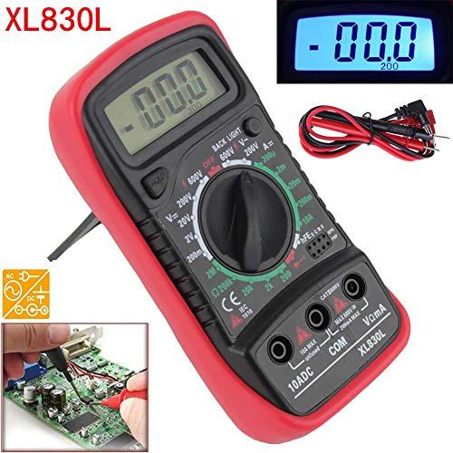 PoeHXtyy LCD Digital Multimeter Voltmeter Amperemeter Ohmmeter AC/DC Spannung DC Strom Widerstand Dioden Transistor Akustischer Durchgangsprüfer