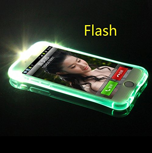 iPhone 11 6.1 Case, Cool Flashing Light UP To Remind Incoming Call Slim Cover by Phone's LED Refraction, TAITOU Awesome Soft TPU Thin Phone Case For Apple iPhone11 Blue