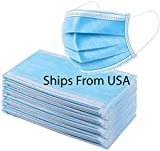 50 PCS Face Mask Disposable for General Use 3 Ply Earloop Pollution Health Protection Protectiv…