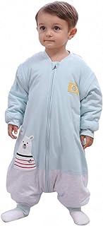 Slaapzakken baby winter jongen meisjes pasgeborenen overall rompers - 2,5 TOG met voeten kinderen het hele jaar door pyjam...