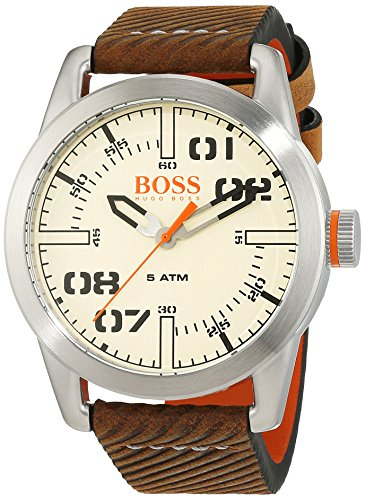 Hugo Boss Orange Oslo herenhorloge kwarts met lederen armband 1513418