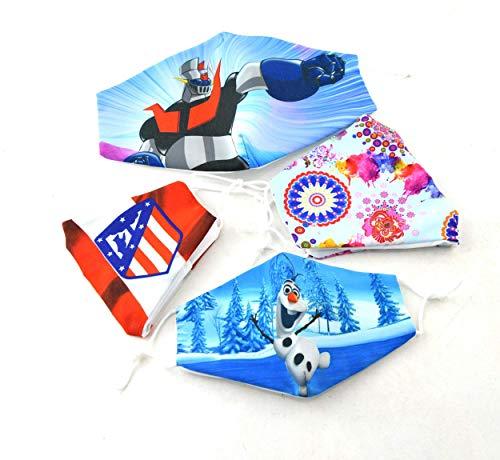 2 mascarillas reutilizables, mascarillas para niños, mascarillas personalizadas todas las edades