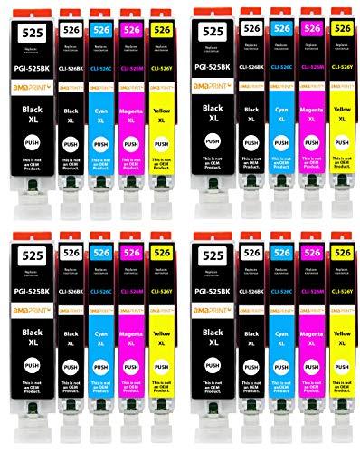 Amaprint 20 XL Patronen kompatibel mit Canon PGI-525 CLI-526 passend für Pixma IP4850 IP4950 IX6550 MG5140 MG5150 MG5240 MG5250 MG5300 MG5340 MG5350 MX715 MX885 MX895