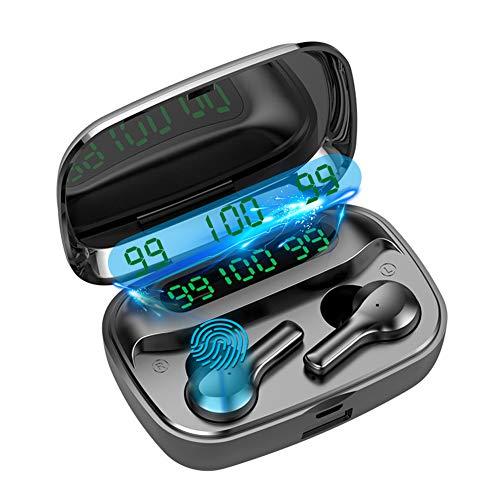 Auriculares Bluetooth 5.0 Intrauditivos Inalámbricos, Auriculares Inalámbricos 220 Horas Tocar, Deportivos Auriculares...