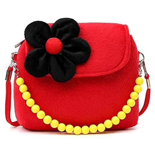 Smosyo Bolso de mano para niños, joyas para niños, llaves, bolso de viaje, diseño de princesa, bolso de flores para niños, regalo