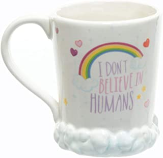 Magical 3D Microwave Hand Painted Rainbow Unicorn Mug,Owl Mug for Christmas Gifts, Birthday Gifts, Party Favors (I Don't Believe)