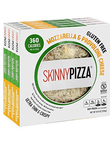 SKINNYPIZZA Gluten Free Cheese Pizza Frozen (4 Pack)