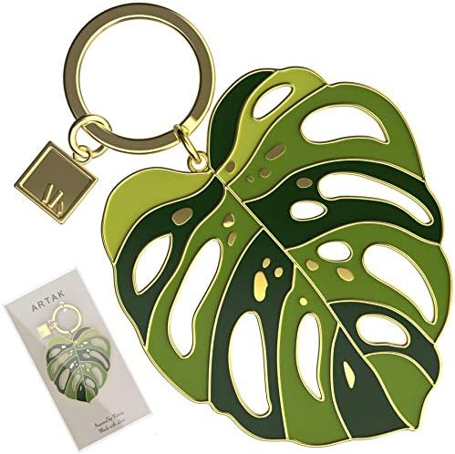 Plant Keychain for Women Monstera Leaf Key Chains for Women for Car Keys Cute Women s Keychains product image