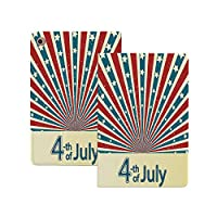 iPad Pro 12.9 2020 ケース 7月4日の装飾、特別な国民の祝日アメリカ国旗の暗いスタイルの図、赤青 7月4日の装飾 極薄 軽量 オートスリープ機能 傷つけ防止 2020春発売のiPad Pro 12.9対応スマートカバー 赤青