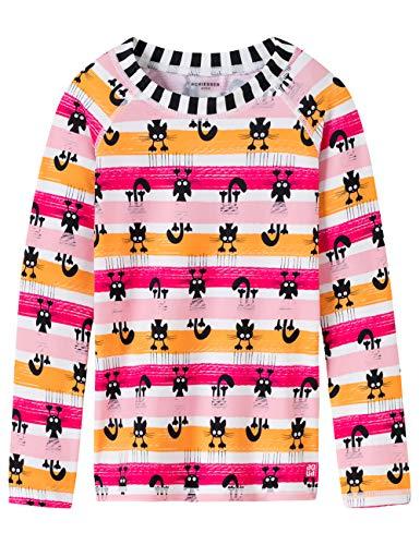 Schiesser Mädchen Water Cat Bade-Shirt Strandkleid, Mehrfarbig (Multicolor 1 904), (Herstellergröße: 104)