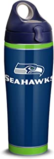 Tervis 1324231 NFL Seattle Seahawks - Touchdown Stainless Steel Insulated Tumbler with Navy with Gray Lid, 18/8, 24 Fluid_...
