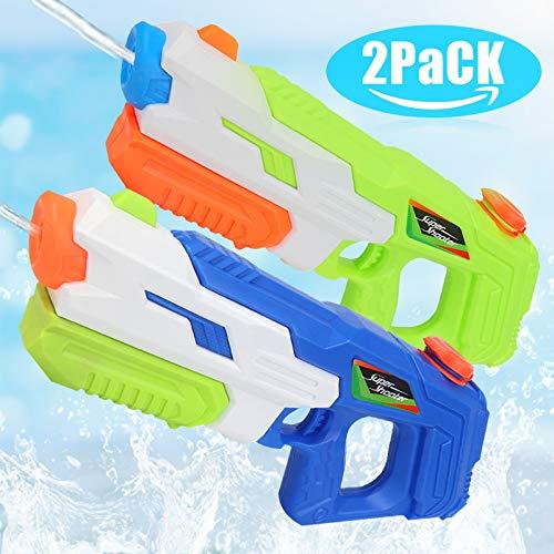 O-Kinee Spielzeug Wasserpistole 2 pcs Spritzpistole Wasserspritzpistolen für Kinder, Outdoor Beach Water Shooter Gartenspielzeug Wasser-Kampfspielzeug für Erwachsene (Grün)