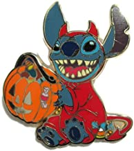 Disney Stitch in Trick or Treat Halloween Devil Costume with Pumpkin Pin