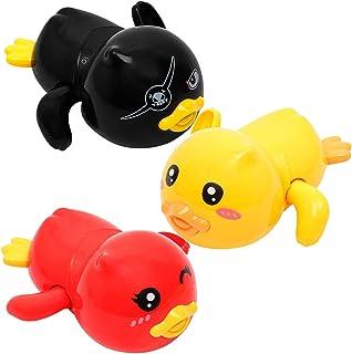 yeesport 3PCS Duck Wind up Toy Creative Interactive Clockwork Toy Bath Tub Toy Duck Water Toy for Babies Children Bathtub ...