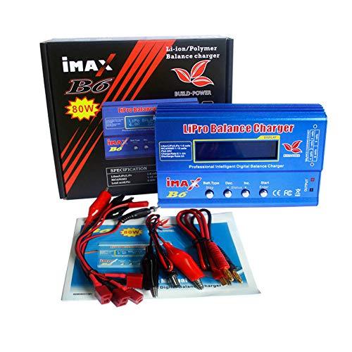 lzndeal - Caricabatterie IMAX B6 B6AC, Schermo Digitale LCD, per Batterie LiPo/NiMH, con Balancer, Multifunzione - 80W 6A - Caricabatterie Lipo - Carica Batterie - LED Caricabatterie Bilanciamento
