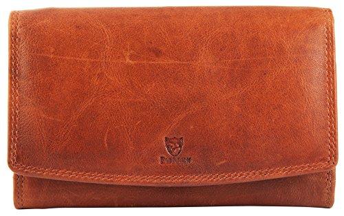 Pierrini PR0005 Echtleder Damen Portemonnaie Vintage Stil Brieftasche 3x10x16 Zentimeter