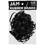JAM PAPER Durable Rubber Bands - Size 64 - Black Multi-Purpose Rubberbands - 100/Pack