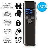 16GB Digital Voice Activated Recorder for Lectures - 2019 Aiworth 1160 Hours...