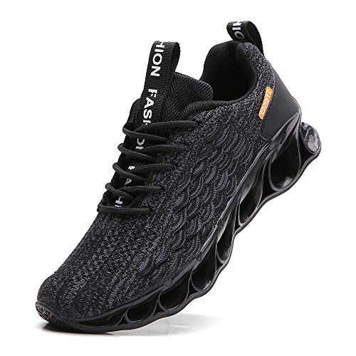 Men Sneakers Size 8 for Men Running Shoes Size 8 mesh Breathable Athletic Casual Tennis Shoes Gym Runner Trail Sport Sneakers Jogging Shoes All Black
