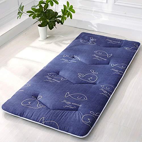 J-Almohada Dormir tatami estera del piso, futón cojines de ratón, acolchado transpirable for colchón Topper, Suelo de colchón, for el estudiante compartida ( Color : B , Size : 100x200cm(39x79inch) )