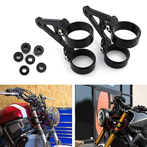 Xitomer 1 Pair for Front Fork Tubes 54mm, CNC Mount Headlight Brackets, for 7' or 5.75' Round Headlight (54mm)