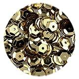 efco - Lustrini concavi, Rotondi, Dorati, 6 mm, 40 g, Confezione da 4000 Pezzi