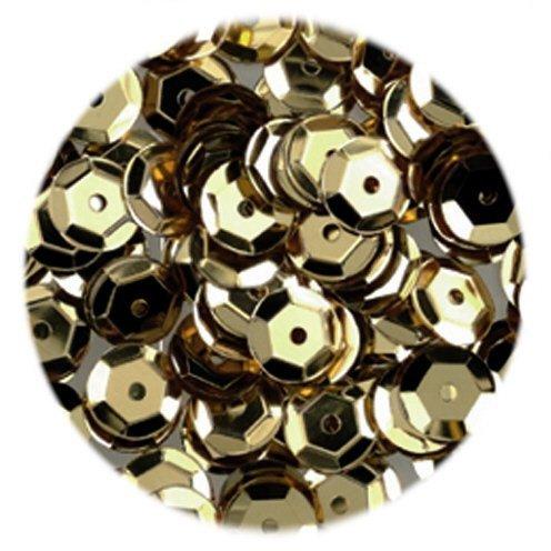 ED Dorado 6 mm semicírculo diseño Lentejuelas/pinflair