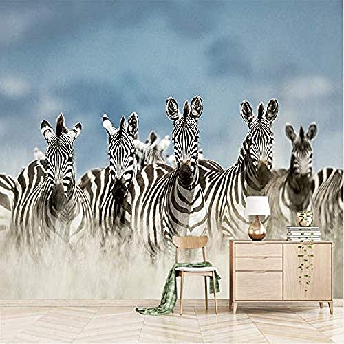 Life Accessories Animal Zebra Photo Modern Hores Wall Mural Wall Background Covering Living Room Custom 3D Paste Living Room The Wall for Bedroom Mural border 250cm times 170cm